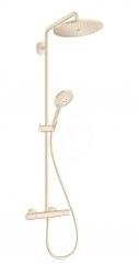 HANSGROHE - Croma Select S Sprchový set Showerpipe 280 s termostatom, EcoSmart, kefovaný bronz (26891140)