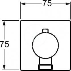 HANSA - Jet Nástenný prípojný oblúk, chróm (51570172), fotografie 4/2