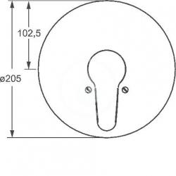 HANSA - Mix Páková sprchová batéria pod omietku, chróm (01859183), fotografie 2/3
