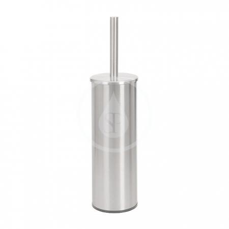 SANELA - Nerezové doplňky WC kefa s držiakom z nehrdzavejúcej ocele, povrch matný (SLZN 19X)