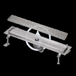 SANELA - Nerezové žlaby Kúpeľňový žliabok z nehrdzavejúcej ocele do priestoru, dĺžka 750 mm, lesk (SLKN 03C)