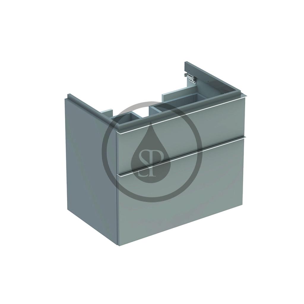 GEBERIT - iCon Spodní skříňka pod umyvadlo, 740x620x477 mm, platinová lesklá (840377000)