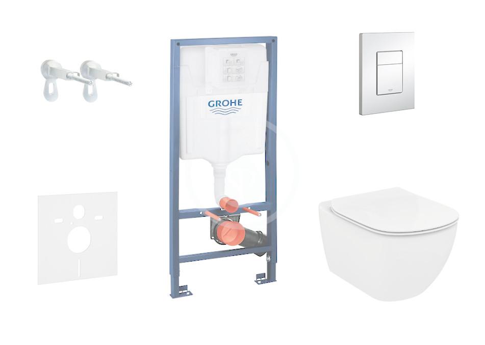 GROHE - Rapid SL Sada pro závěsné WC + klozet a sedátko Ideal Standard Tesi (38528SET-KF)
