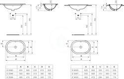 IDEAL STANDARD - Connect Umývadlo pod dosku oválne 480mmx175mmx350mm, biela (E504601), fotografie 4/2