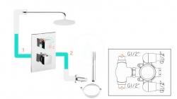 PAFFONI - Stick Sprchová podomietková batéria s prepínačom, 2 vývody, chróm (SK018CR), fotografie 2/2