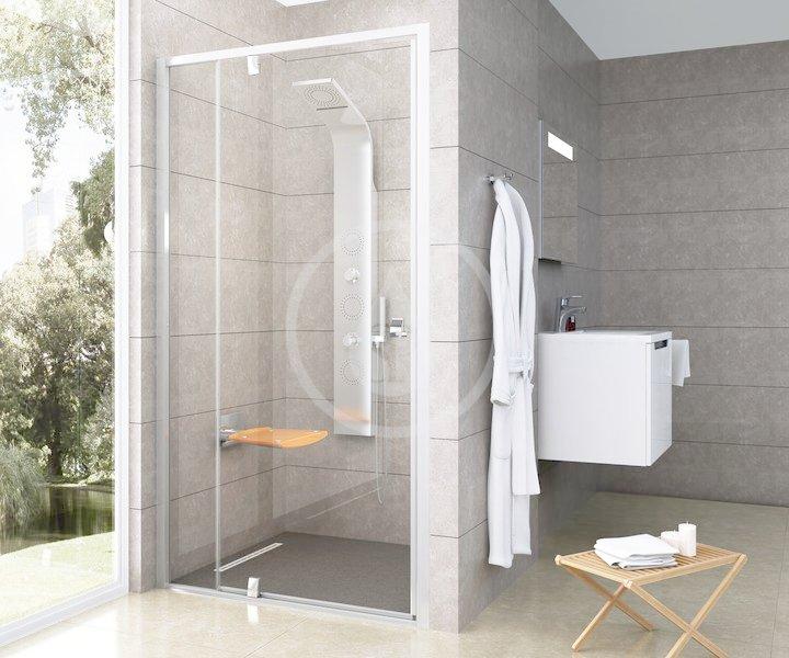 RAVAK - Pivot Sprchové dveře PDOP2-110, 1061-1111 mm, satin/čiré sklo (03GD0U00Z1)