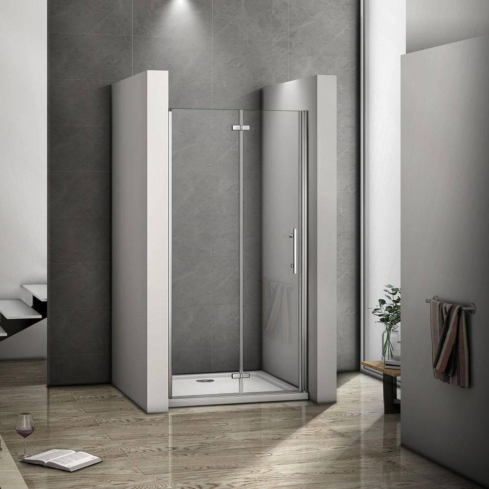 H K - Zalamovací dveře MELODY B8 88,6-91,6 x 195 cm, sklo GRAPE, levá varianta (SE- MELODYB890GRAPESET)