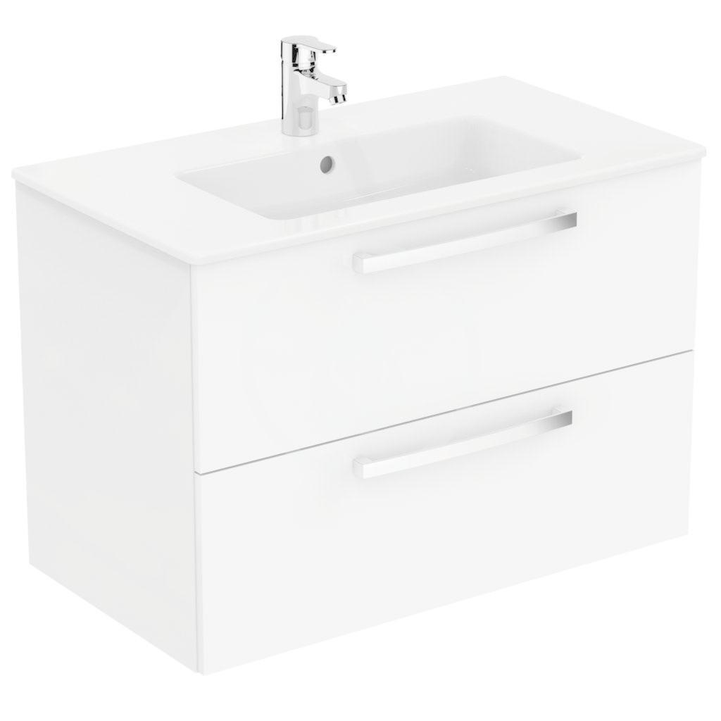 IDEAL STANDARD - Tempo Skrinka s umývadlom 815x450 mm, dekor biely lak K2978WG