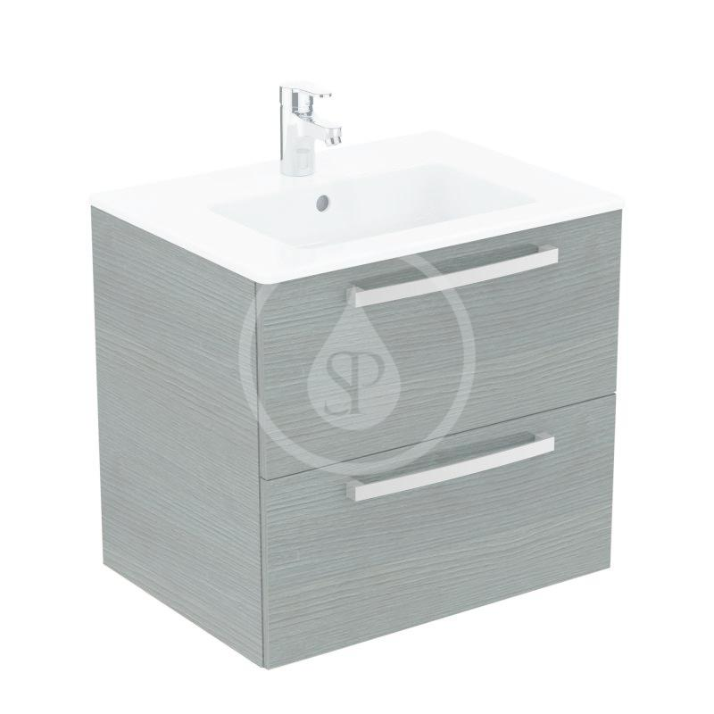 IDEAL STANDARD - Tempo Skrinka s umývadlom 610x450 mm, dekor sivý dub K2979SG
