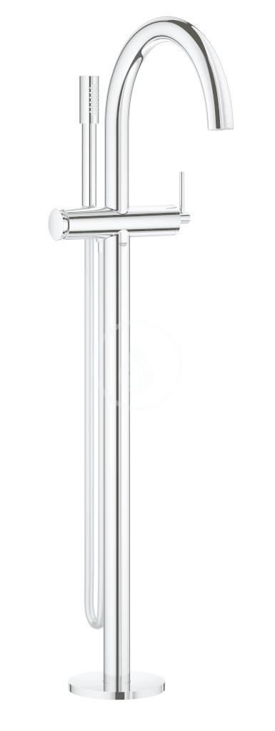 GROHE - Atrio Vanová baterie na podlahu, s otočným výtokem, chrom (32653003)