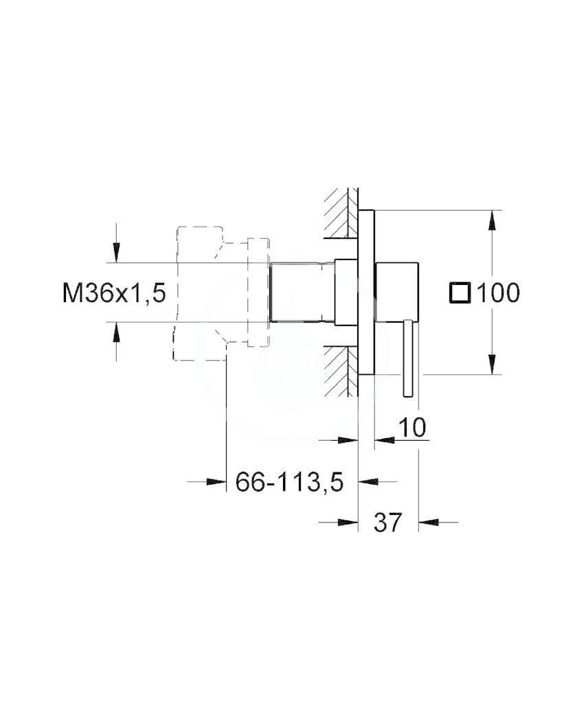 GROHE - Allure Päťcestný ventil, chróm (19590000)