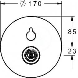 HANSA - Varox Pro Vaňová batéria pod omietku, s prepínačom na 2 výstupy, chróm (40529083), fotografie 4/2