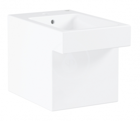 GROHE - Cube Ceramic Stojací bidet s prepadom, PureGuard, alpská biela (3948700H)
