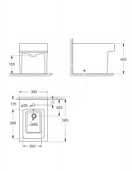 GROHE - Cube Ceramic Stojací bidet s prepadom, PureGuard, alpská biela (3948700H), fotografie 2/2