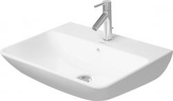DURAVIT - ME by Starck Umývadlo s prepadom, 600 mmx460 mm, biele – trojotvorové umývadlo (2335600030)