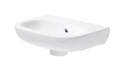 DURAVIT - D-Code Umývadielko 360x270 mm, bez otvoru na batériu, alpská biela (07053600002)