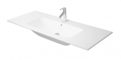 DURAVIT - ME by Starck Umývadlo nábytkové 1230x490 mm, bez otvoru na batériu, alpská biela (2336120060)