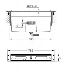 GROHE - Montážní tělesa Montážna súprava na vaňové armatúry (29037001), fotografie 2/2