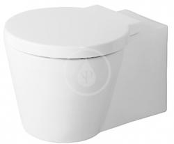 DURAVIT - Starck 1 Závesný klozet, 410 mmx575 mm, biely – klozet, s WonderGliss (02100900641)
