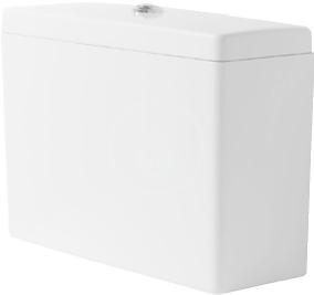DURAVIT - Starck 3 Splachovací nádrž 475x210 mm, připojení vpravo nebo vlevo, bílá (0928000005)