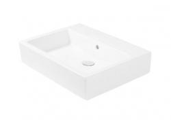 DURAVIT - Vero Bezotvorové umývadlo Med bez prepadu, 600 mmx470 mm, biele – umývadlo (0454600070)