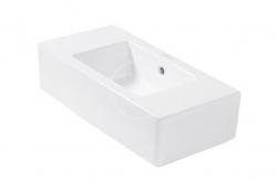 DURAVIT - Vero Bezotvorové umývadielko s prepadom, 500 mmx250 mm, biele – umývadielko (0703500000)