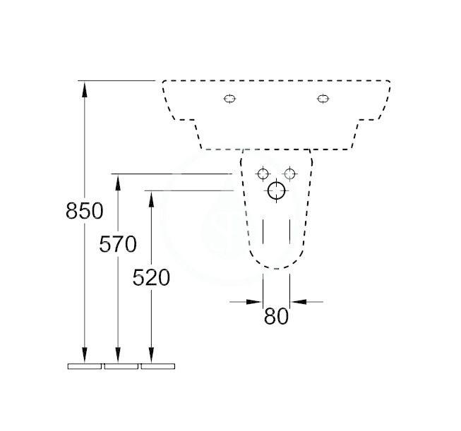 VILLEROY & BOCH - Architectura Kryt sifónu, alpská biela (72640001)