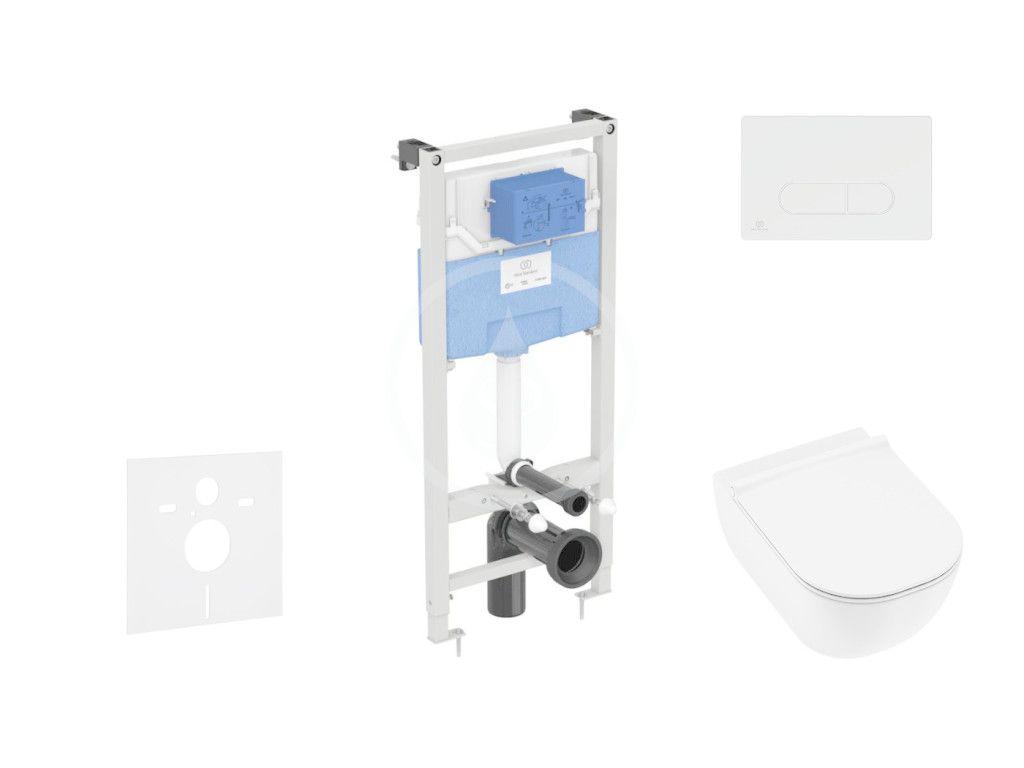 IDEAL STANDARD - ProSys Set predstenovej inštalácie, klozetu a sedadla Mio, tlačidla Oleas M2, Rimless, Slowclose, Antibak, biela ProSys120M SP70