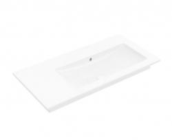 VILLEROY & BOCH - Venticello Umývadlo nábytkové 1000x500 mm, s prepadom, bez otvoru na batériu, CeramicPlus, alpská biela (4134R3R1)