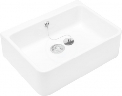 VILLEROY & BOCH - O.novo Keramický drez na dosku, 495x405 mm, CeramicPlus, alpská biela (632100R1)