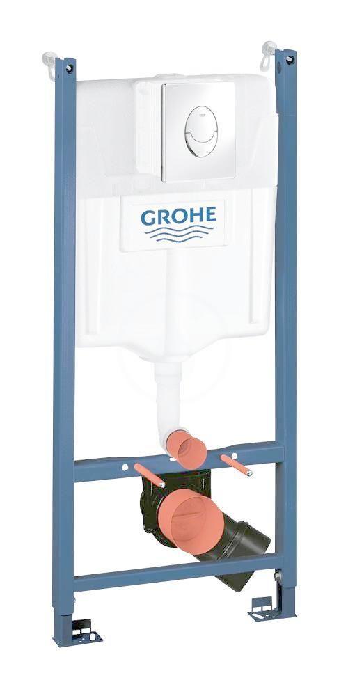 GROHE - Rapid SL Predstenový inštalačný prvok na závesné WC, nádržka GD2, ovládacie tlačidlo Skate Air, chróm 38745001