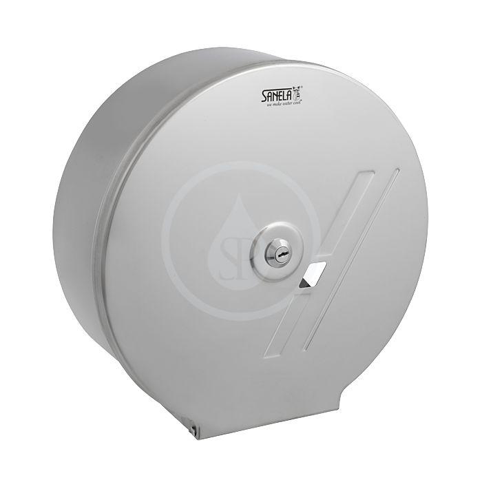 SANELA - Nerezové doplňky Zásobník z nehrdzavejúcej ocele na toaletný papier SLZN 01