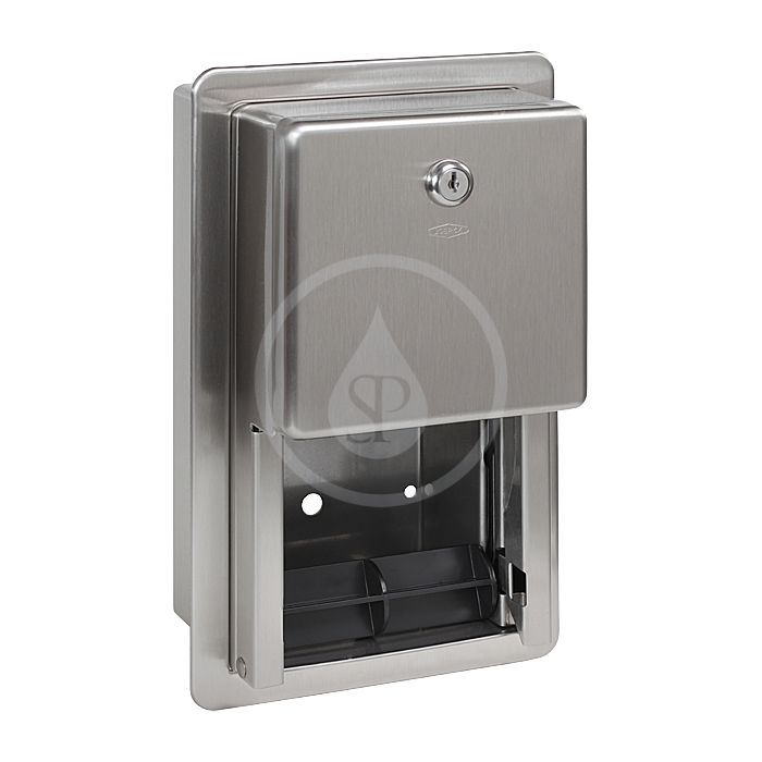 SANELA - Nerezové doplňky Zásobník z nehrdzavejúcej ocele na toaletný papier SLZN 26Z
