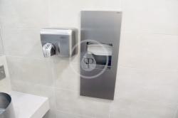 SANELA - Automatické osoušeče Elektrický sušič rúk s tlačidlom na čelnej stene, kryt z nehrdzavejúcej ocele (SLO 02M), fotografie 4/2
