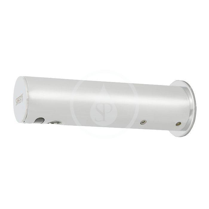 SANELA - Senzorové baterie Automatická chromovaná nástěnná baterie na jednu vodu s elektronikou ALS, 6V (SLU 43KB)