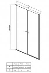 AQUALINE - PILOT otočné sprchové dvere dvojkrídlové 800mm+vanička (PT082-SET1), fotografie 16/10