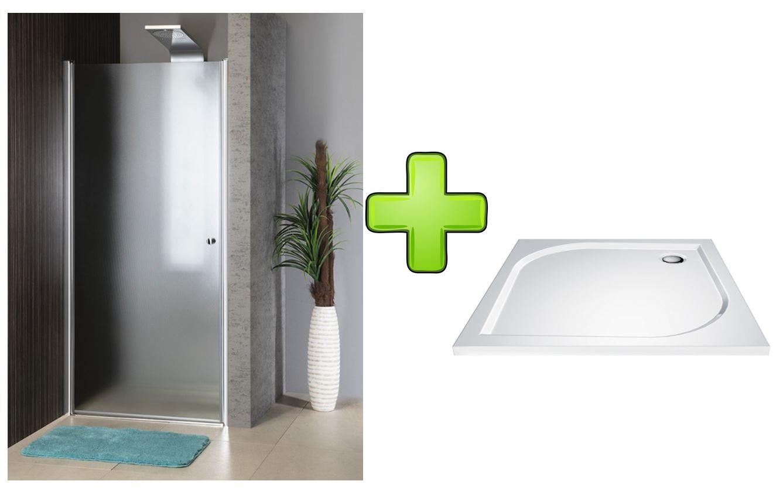 AQUALINE - PILOT otočné sprchové dvere 900mm+vanička PT090-SET1