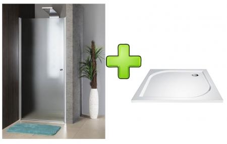 AQUALINE - PILOT otočné sprchové dvere 900mm+vanička (PT090-SET1)