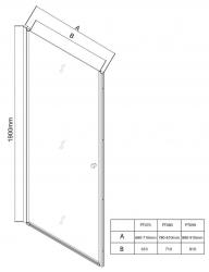 AQUALINE - PILOT otočné sprchové dvere 900mm+vanička (PT090-SET1), fotografie 20/10