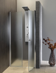 AQUALINE - PILOT otočné sprchové dvere dvojkrídlové 900mm+vanička (PT092-SET1), fotografie 4/10