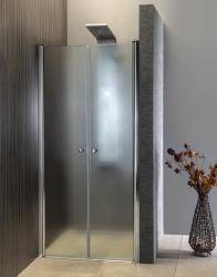 AQUALINE - PILOT otočné sprchové dvere dvojkrídlové 800mm+žlab (PT082-SET2), fotografie 22/12