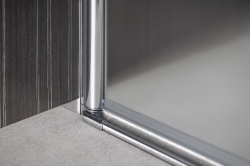 AQUALINE - PILOT otočné sprchové dvere dvojkrídlové 800mm+žlab (PT082-SET2), fotografie 16/12