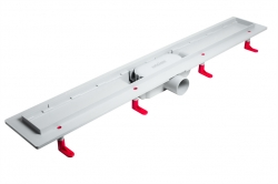AQUALINE - PILOT otočné sprchové dvere dvojkrídlové 800mm+žlab (PT082-SET2), fotografie 2/12