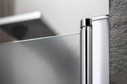 AQUALINE - PILOT otočné sprchové dvere dvojkrídlové 900mm+žlab (PT092-SET2), fotografie 16/12