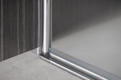 AQUALINE - PILOT otočné sprchové dvere dvojkrídlové 900mm+žlab (PT092-SET2), fotografie 18/12