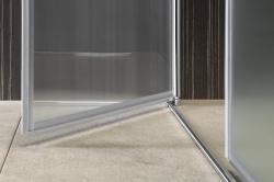 AQUALINE - PILOT otočné sprchové dvere dvojkrídlové 900mm+žlab (PT092-SET2), fotografie 22/12