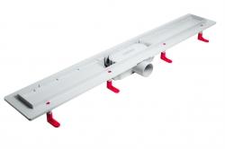 AQUALINE - PILOT otočné sprchové dvere dvojkrídlové 900mm+žlab (PT092-SET2), fotografie 2/12