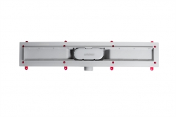 AQUALINE - PILOT otočné sprchové dvere dvojkrídlové 900mm+žlab (PT092-SET2), fotografie 4/12