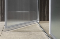 AQUALINE - PILOT otočné sprchové dvere dvojkrídlové 1000mm+žlab (PT102-SET2), fotografie 22/12