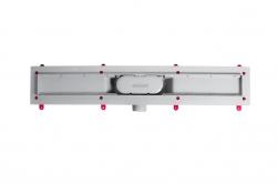 AQUALINE - PILOT otočné sprchové dvere dvojkrídlové 1000mm+žlab (PT102-SET2), fotografie 4/12